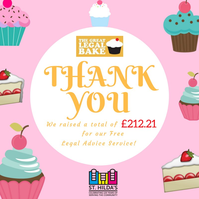 We raised £212.21 from our #GreatLegalBake. Thank you to everyone; from the bakers to the buyers we could have not done it without you all!😃 https://t.co/6htFWfqHFH