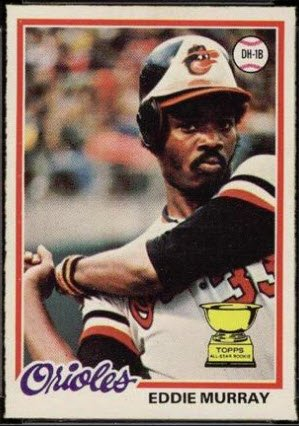 Happy 61st birthday to Eddie Murray, who had more first-year cards than just Topps: