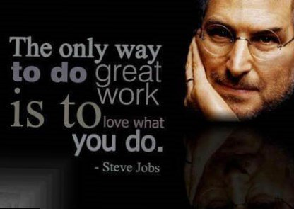 Happy birthday, Steve Jobs!  Celebrate by doing something you love.