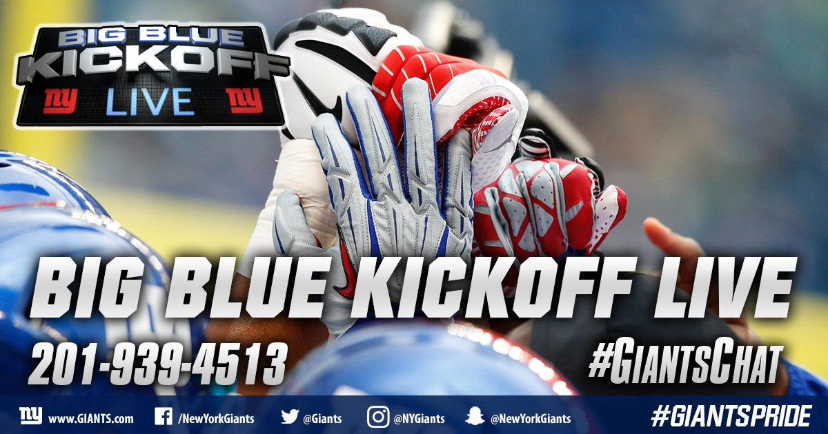Big Blue Kickoff Live will air at 12:00 PM ET on  http:// Giants.com  &nbsp;   and Giants App! #GiantsChat <br>http://pic.twitter.com/XPViw72uic