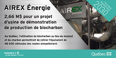Qc investit 2,66 M$ dans une usine de biocharbon à Bécancour #GES #biomasse #Technoclimat #FondsVertQC #PolÉnergieQc  http:// mern.gouv.qc.ca/2017-02-24-ina uguration-biocharbon-becancour/ &nbsp; … <br>http://pic.twitter.com/nDt9N7ksCl