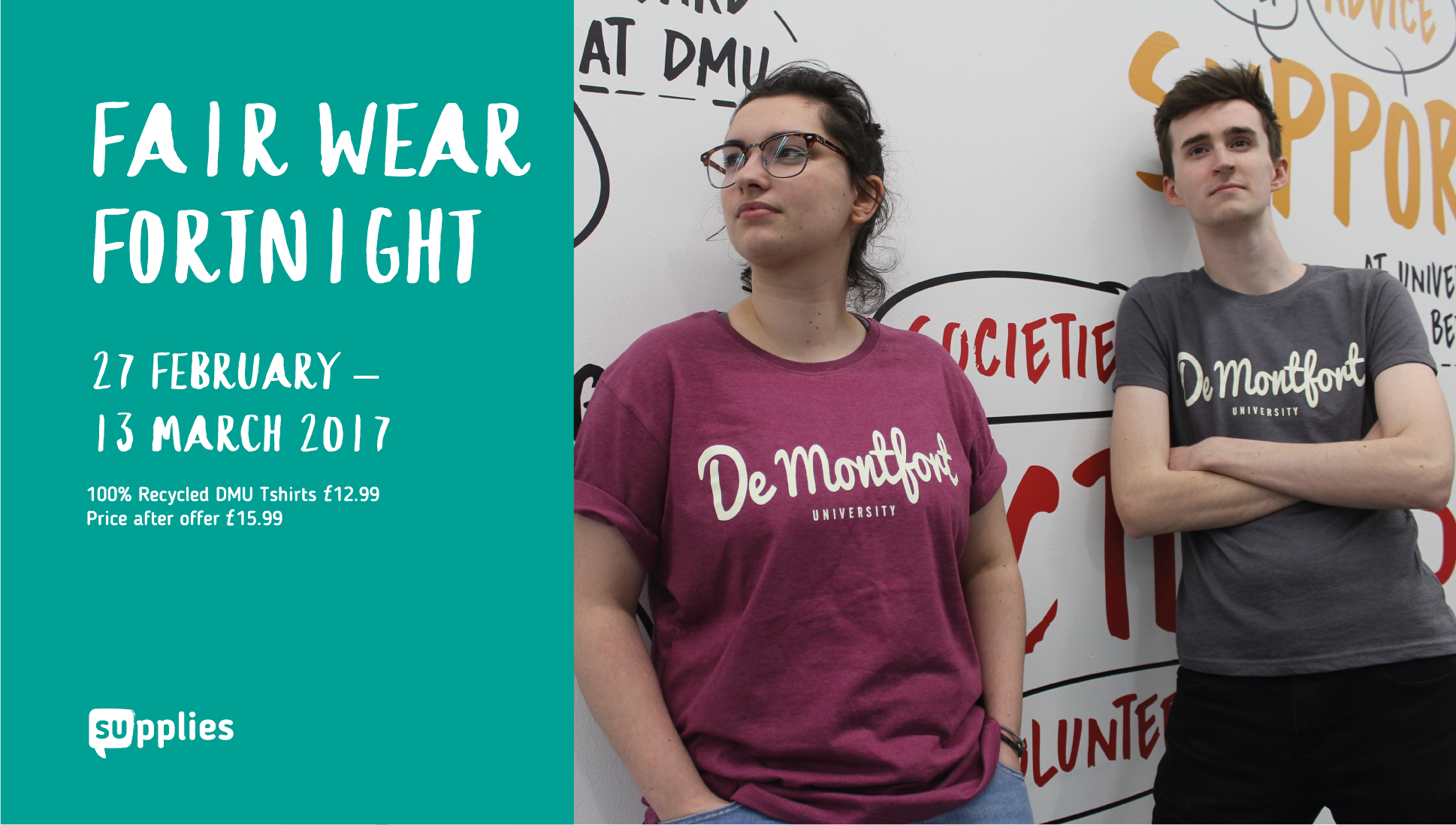 Look good and do good with Fair Wear Fortnight! Find out more: https://t.co/PZQl2QzYcz #LoveDSU https://t.co/CGi3JfPUz1