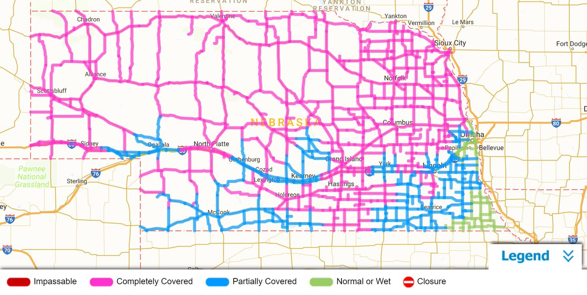 nebraska dot on road conditions are worsening across the