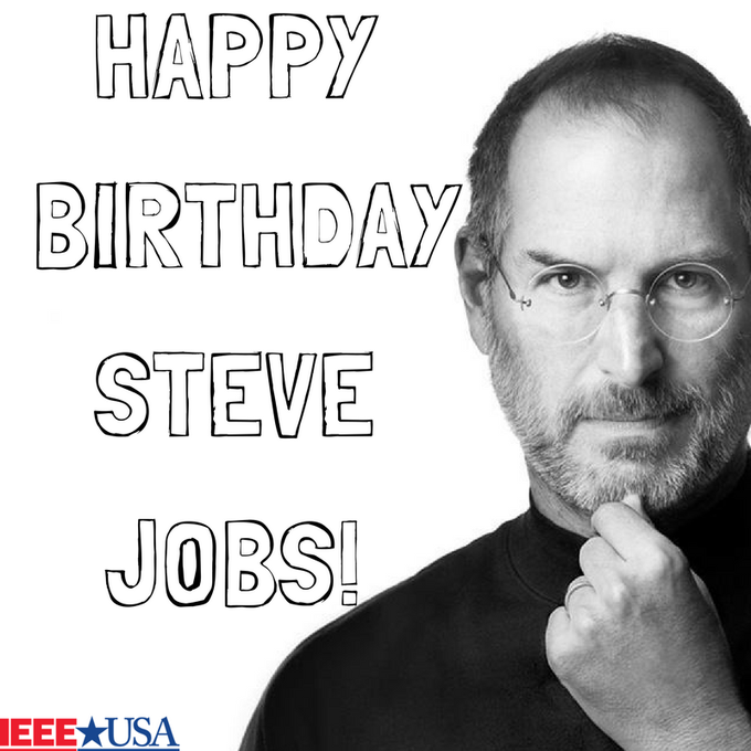 IEEEUSA: Happy Birthday Steve Jobs!