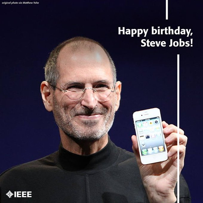 One of the greatest innovators of our time. Happy Birthday Steve Jobs!