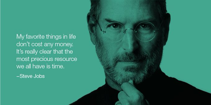 Wise words. Happy birthday Steve Jobs He would have been 62 today.