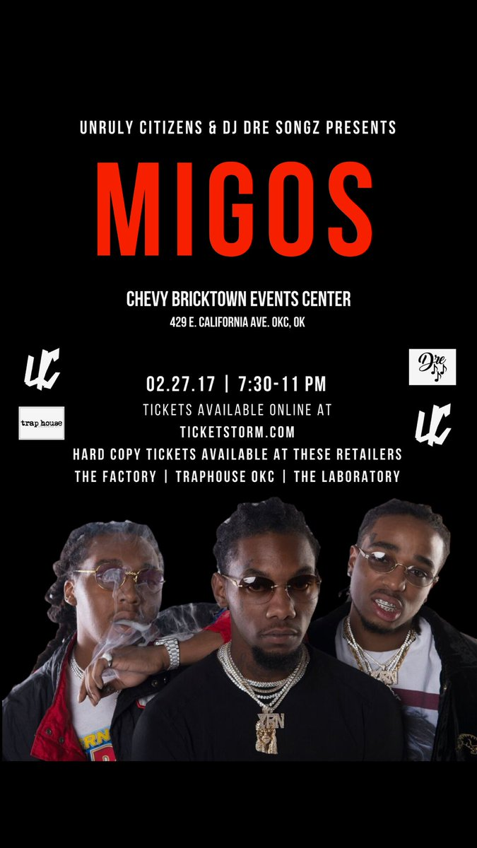Migos On Twitter Buy The Meet And Greet Package In Oklahoma City