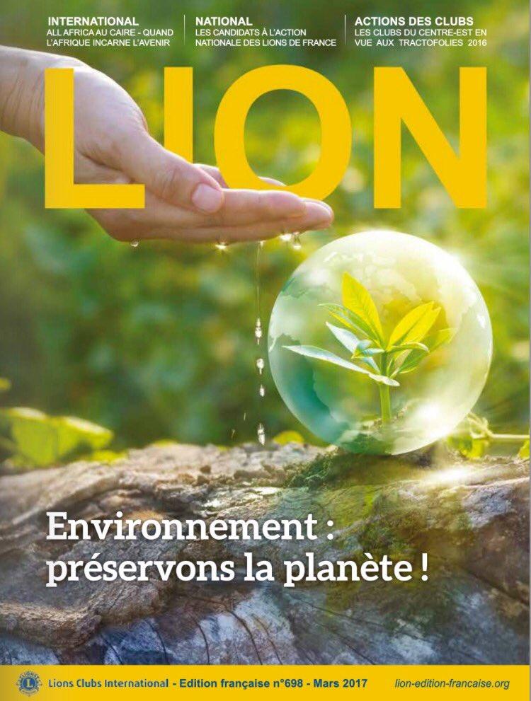 La revue &quot;LION&quot; de mars est en ligne :  http:// lion-edition-francaise.org  &nbsp;   #Lions100 #LionsClub #Leoclub #Lions #Leo #jeune #environnement<br>http://pic.twitter.com/c5WyQcpgDP