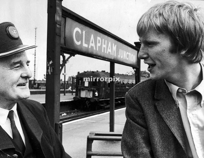 Happy Birthday Dennis Waterman! Here he\s pictured with his father who worked for BR ( image) circa 1968