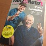 Auf dem Weg nach Hause mit einer tollen Ausgabe von @hinz_und_kunzt #Hamburg #Frankfurt #Strassenzeitung #ICE