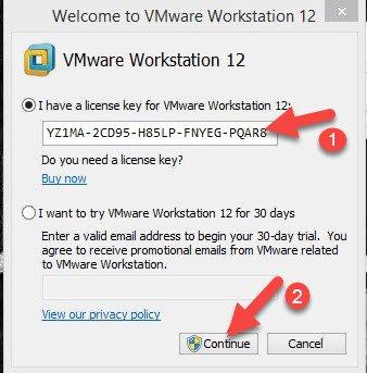 vmware workstation 12 license free