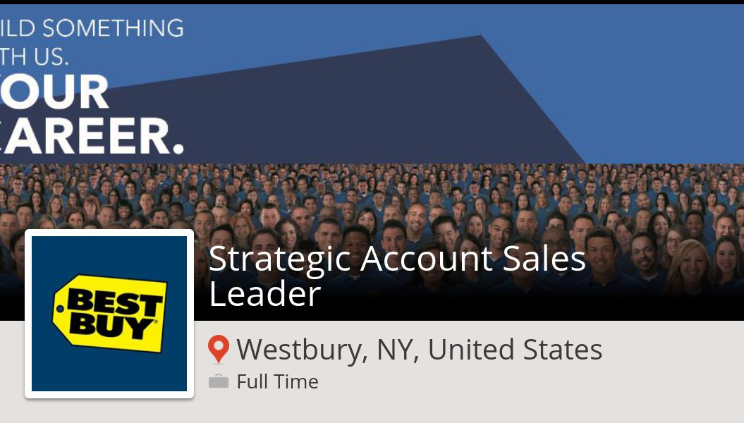 stephanie englund on twitter strategic account sales leader needed in westbury apply now at bestbuy job httpstcolpvc7giqzd