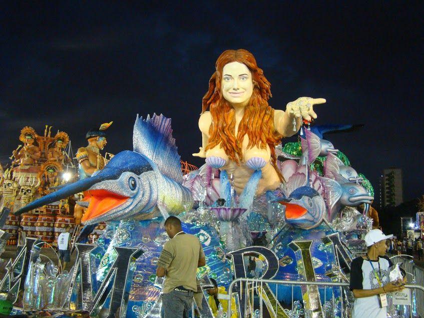 Sete escolas de samba abrem os desfiles do grupo especial em SP https:...