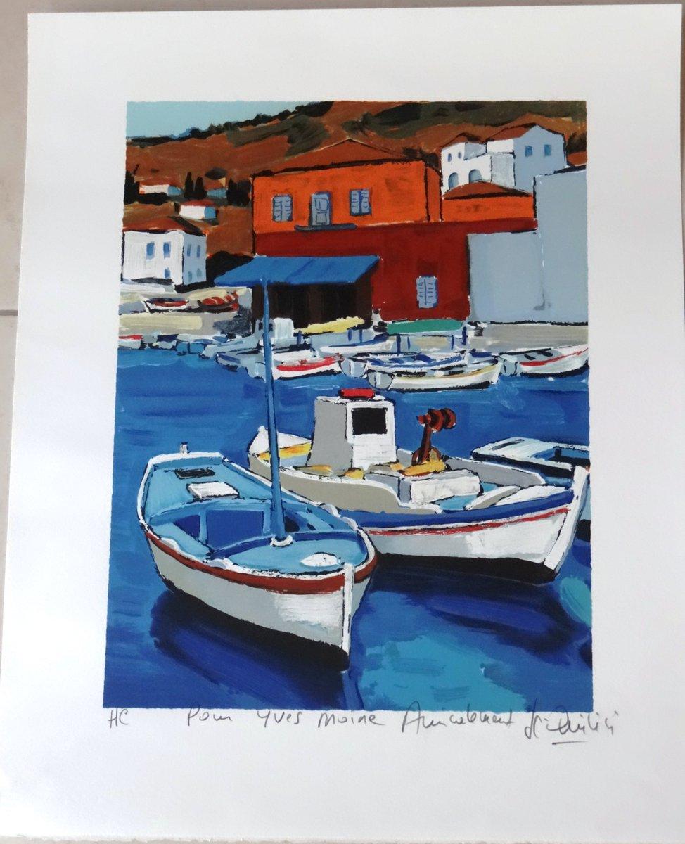 #Greece #seascape #Art  http:// etsy.me/2lsuNZF  &nbsp;   #earthrt  #TintegrityT #etsyspecialt #UKPub Jean Claude Quilici #French artist #islands<br>http://pic.twitter.com/R3N205DNsp
