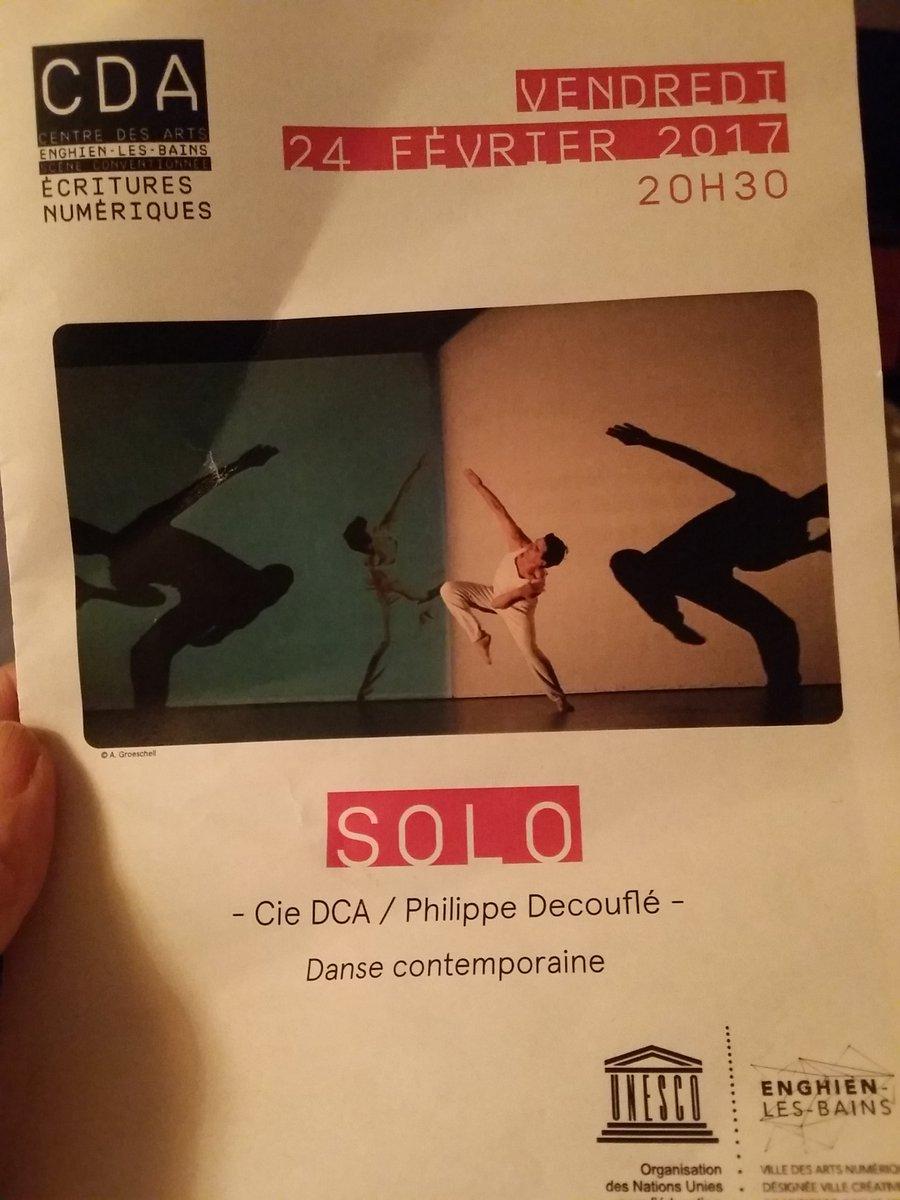 merci  @CompagnieDCA pour cette [Danse] Belle soirée au @centredesarts95 je m&#39;endors bercées par ces belles images  #decouflé #Solo <br>http://pic.twitter.com/JxTtWC0JS7