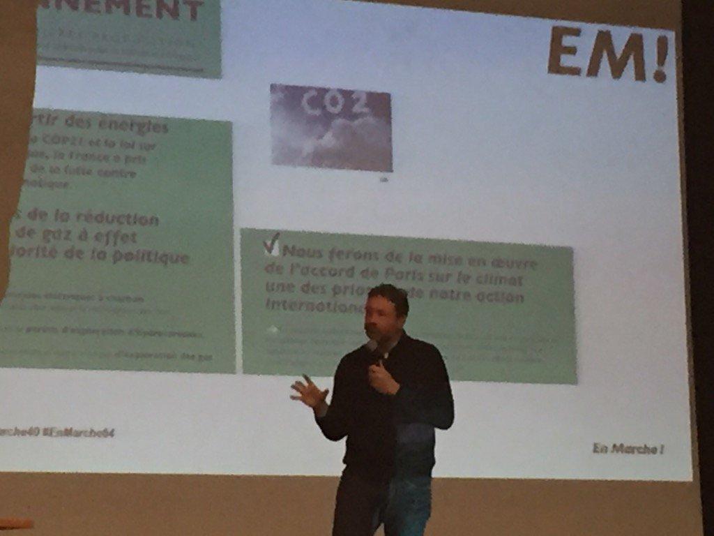 Merci à @ar_leroy pour son intervention lors du débat #Environnement à Ondres ! #EnMarche<br>http://pic.twitter.com/V1f1RdrpwV