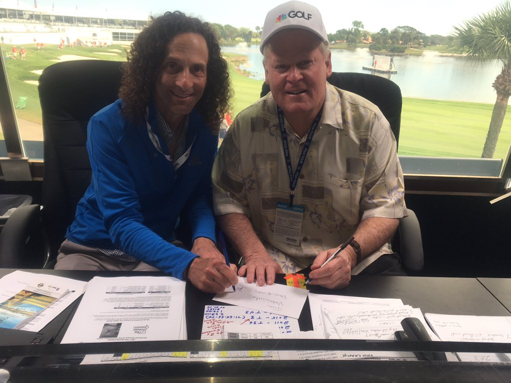 Me and Johnny Miller discussing stats for the @TheHondaClassic https:/...