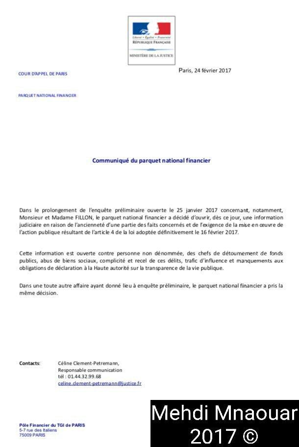 =&gt;#BREAKING #Epilogue #PenelopeGate #Fillon2017 #DélinquantsMajeurs   Ouverture d&#39;une information judiciaire dans l&#39;affaire #Fillon<br>http://pic.twitter.com/f9ER1hiYgk