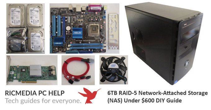 Budget 6TB RAID-5 Network-Attached Storage (NAS) Under $600 DIY Guide