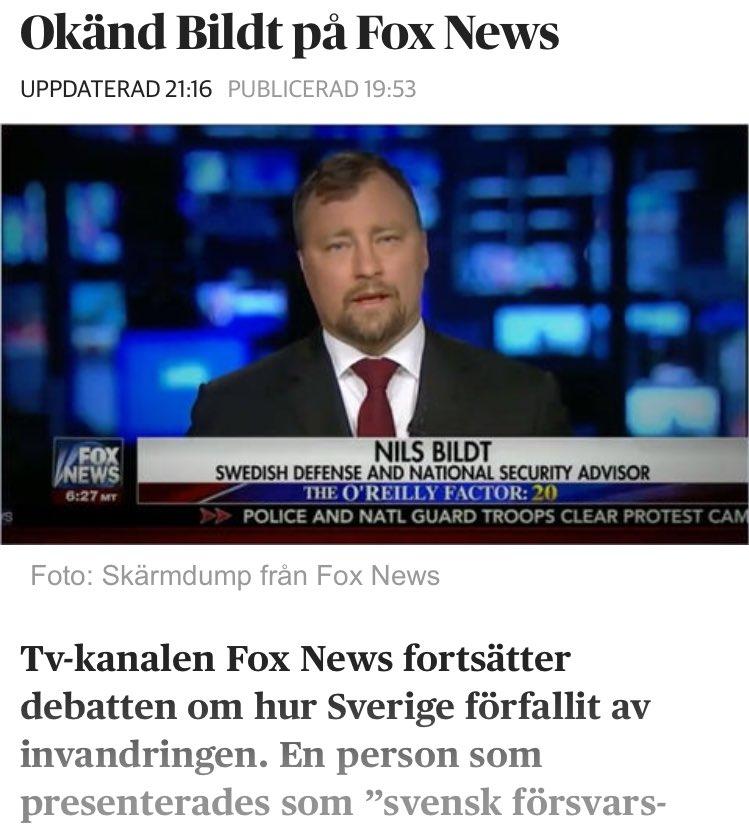 Fox news slappte fram okand bildt