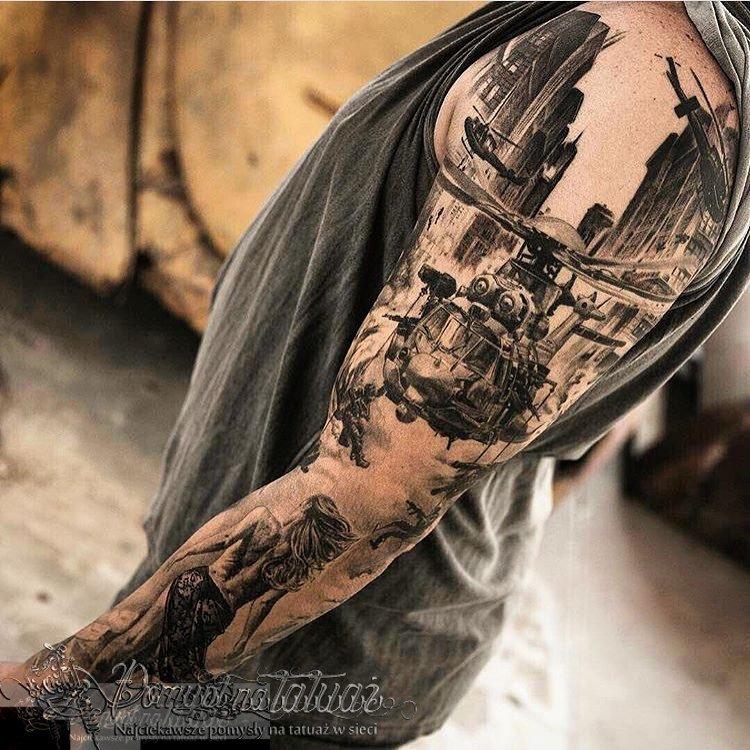 Pomysł Na Tatuaż On Twitter Rękaw Prawdziwego Twardziela