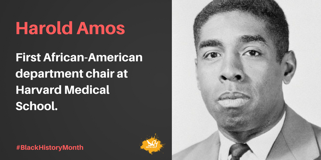 Harold Amos taught at Harvard Medical School for nearly 50 years. #BHM
