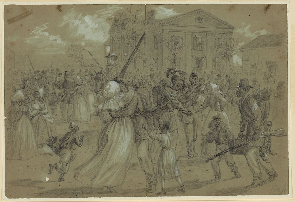 So many stories in this drawing of AfAm soldiers at the end of #CivilWar https://t.co/jX06m2rKo1 #AfricanAmericanHistoryMonth https://t.co/7TV2aSR95o