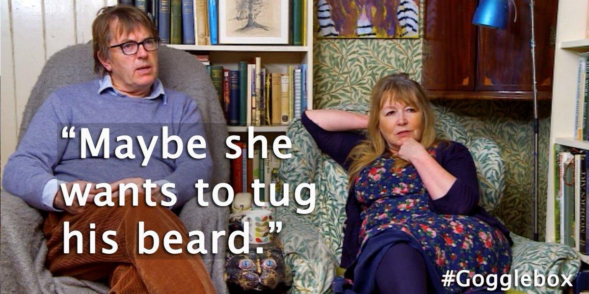 Maybe she wants to tug his beard @wardrox #beardstroke #Bristlr #Drago...