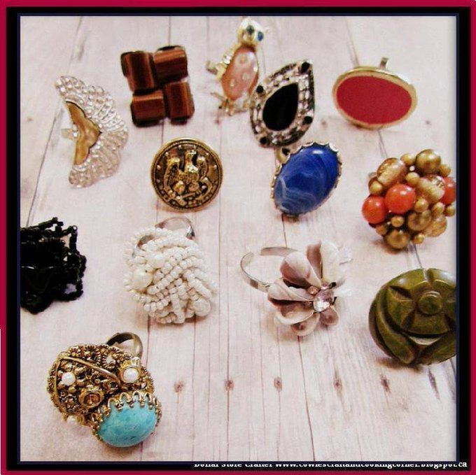 Turn Grandma's Old Clip On Earrings Into Awesome Rings