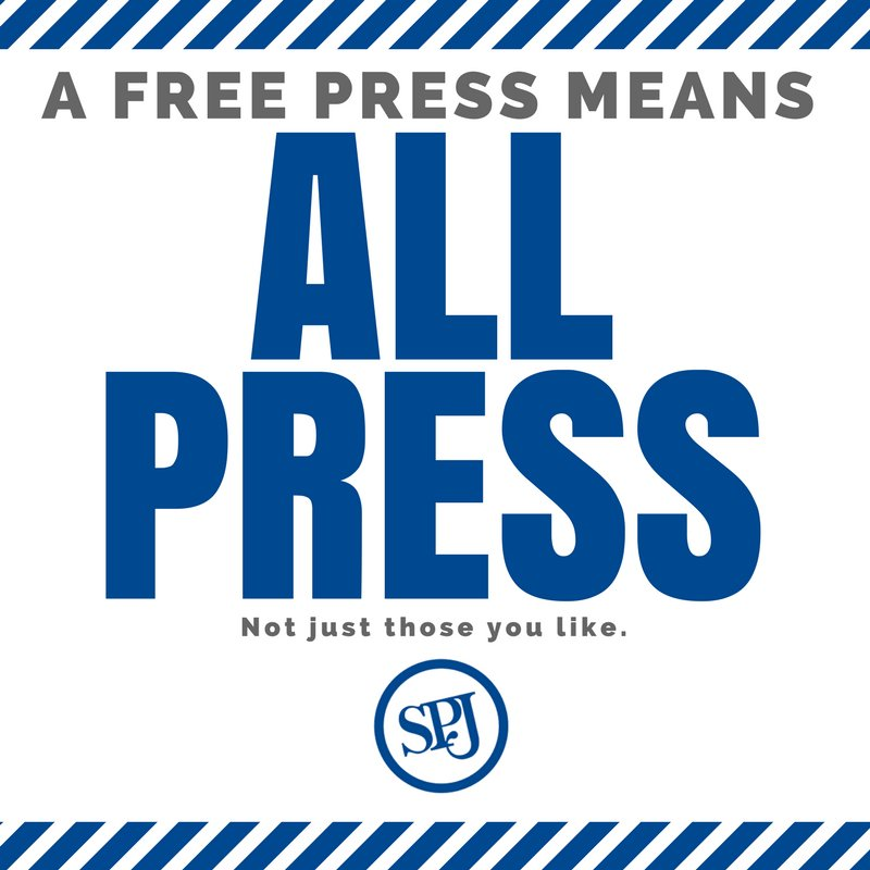 Keep a free press free. Bottom line: access for all #journalists, not just those you like. #PressthePrez https://t.co/oLtGfzf3Oq