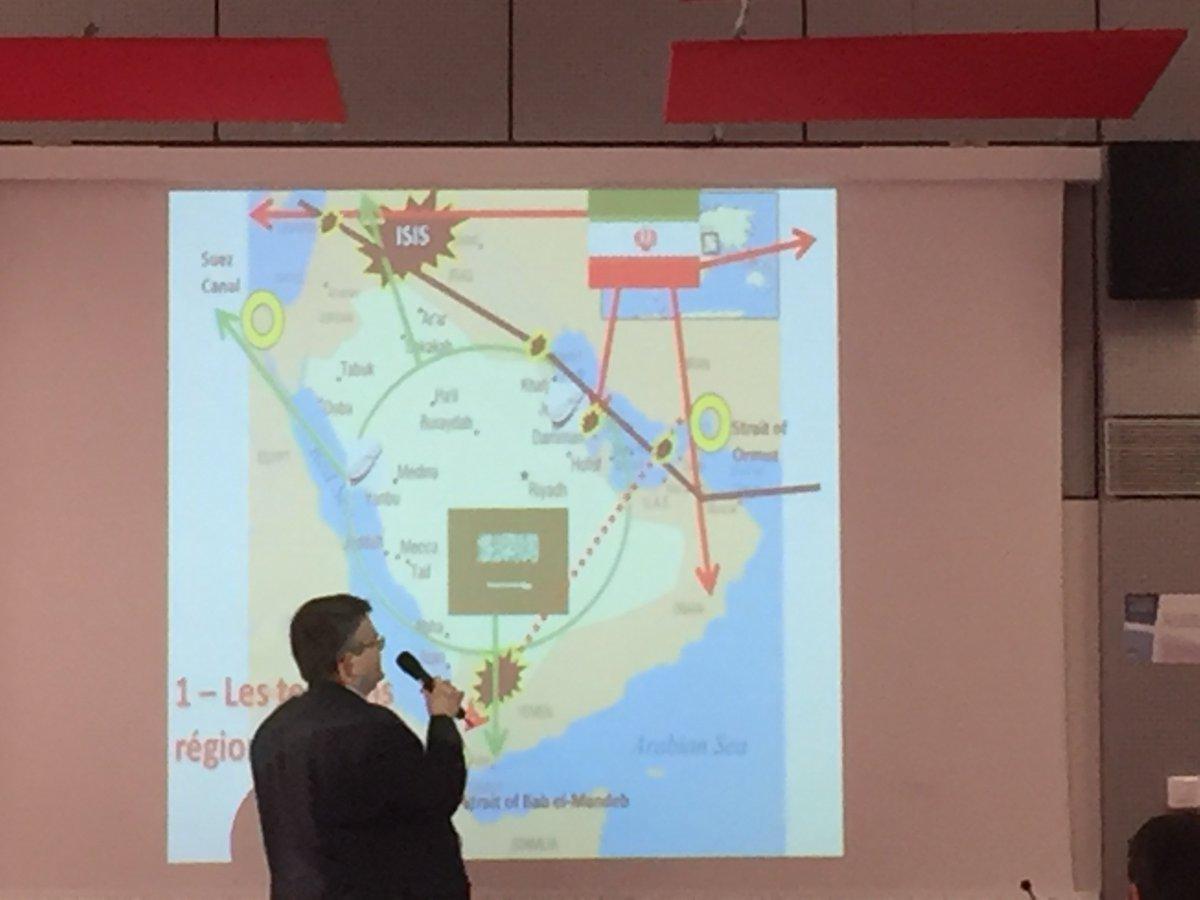 Belle intervention de P. Razoux @irsem1 &quot;Nouvelle donne #géopolitique au #Moyen-Orient&quot; #DUPrépaSciencesPoetEJ #LicenceHiriss #MasterHiriss<br>http://pic.twitter.com/YktgAVFNb5