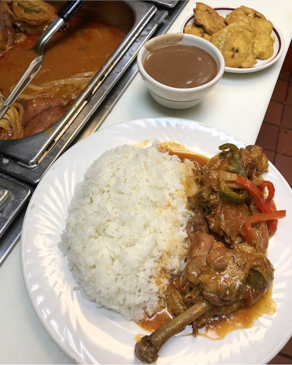 Lunionsuite On Twitter Chicken In Sauce W White Rice Red Bean Sauce With A Side Of Plantains Hrgrill Haitianfood Haitian Bannanpeze Caribbean Https T Co Fo5bnjtnsv