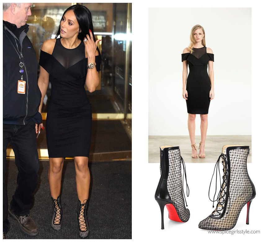 Mel b black dress 22 24