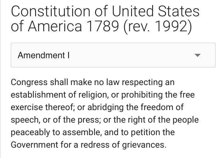1st Amendment to the U.S. Constitution. #FreedomOfThePress https://t.c...