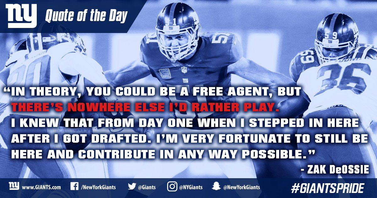 #Giants LS Zak DeOssie explains his decision to re-sign with the New York Giants.  READ:  http:// bit.ly/2l8j3H1  &nbsp;  <br>http://pic.twitter.com/KoNiqPWqM9