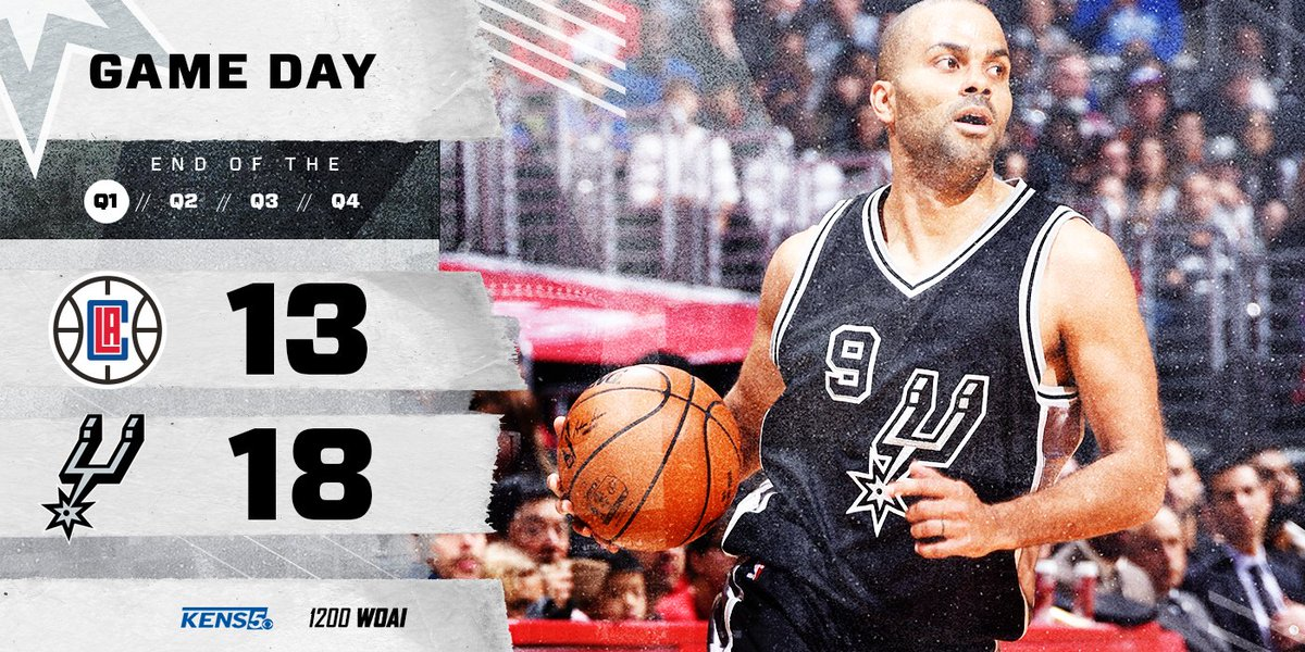 End of one at Staples.   #GoSpursGo https://t.co/yMNCU31fUu