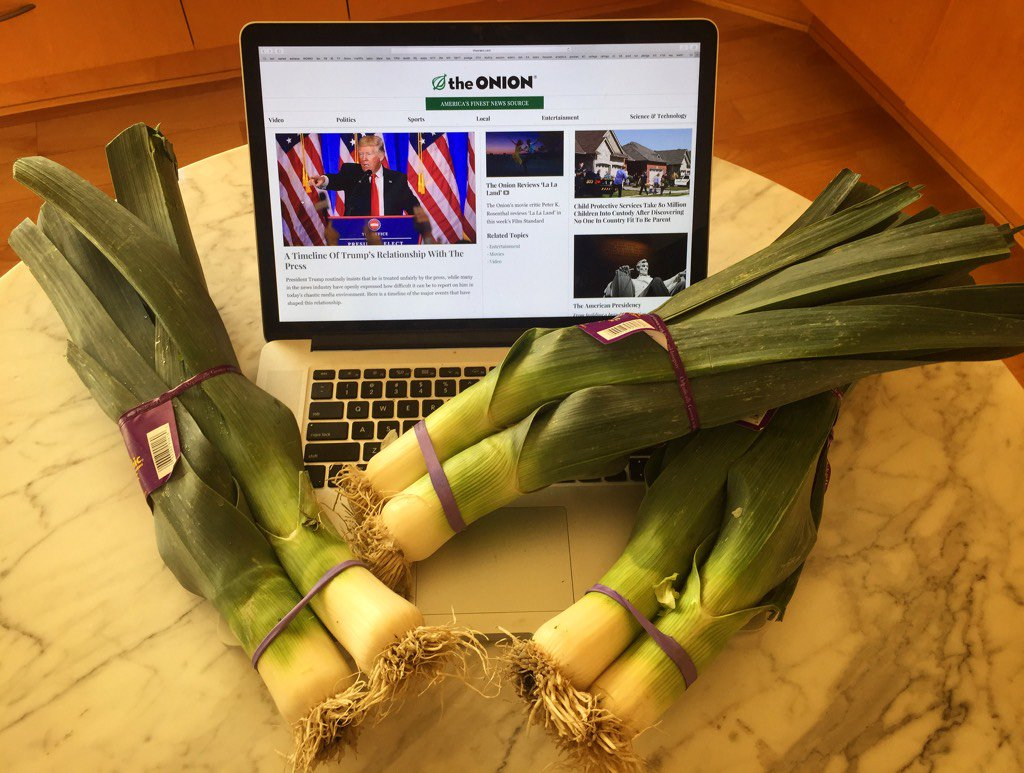 The news is fake but the leeks are real. https://t.co/Mwrh9kLWbZ