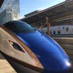 おはようございます。行くぜ富山!「かがやき」に乗って!こりゃたまらんらん!良い一日を🚄 pic.tw…