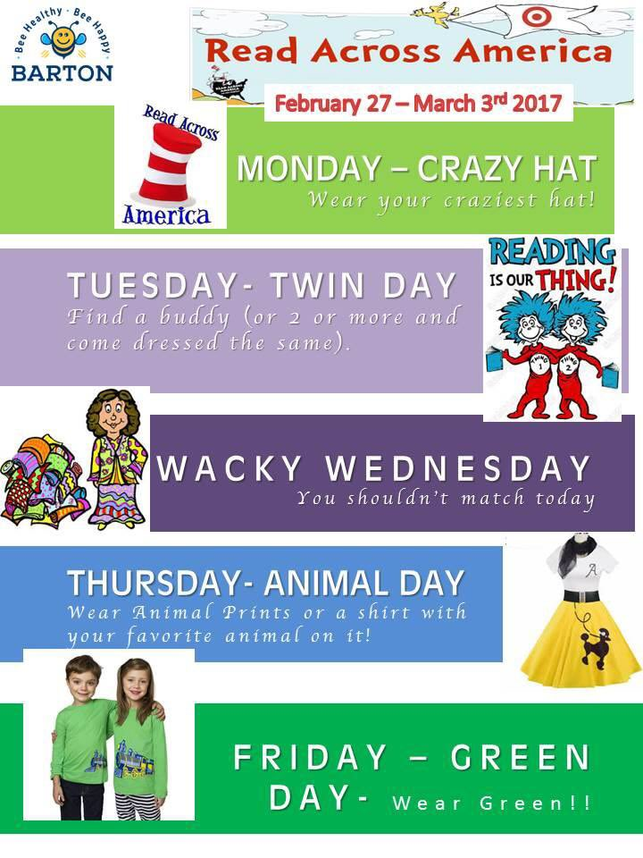 Celebrating #ReadAcrossAmerica next week. See here our daily activities: https://t.co/mXvy4kScPj