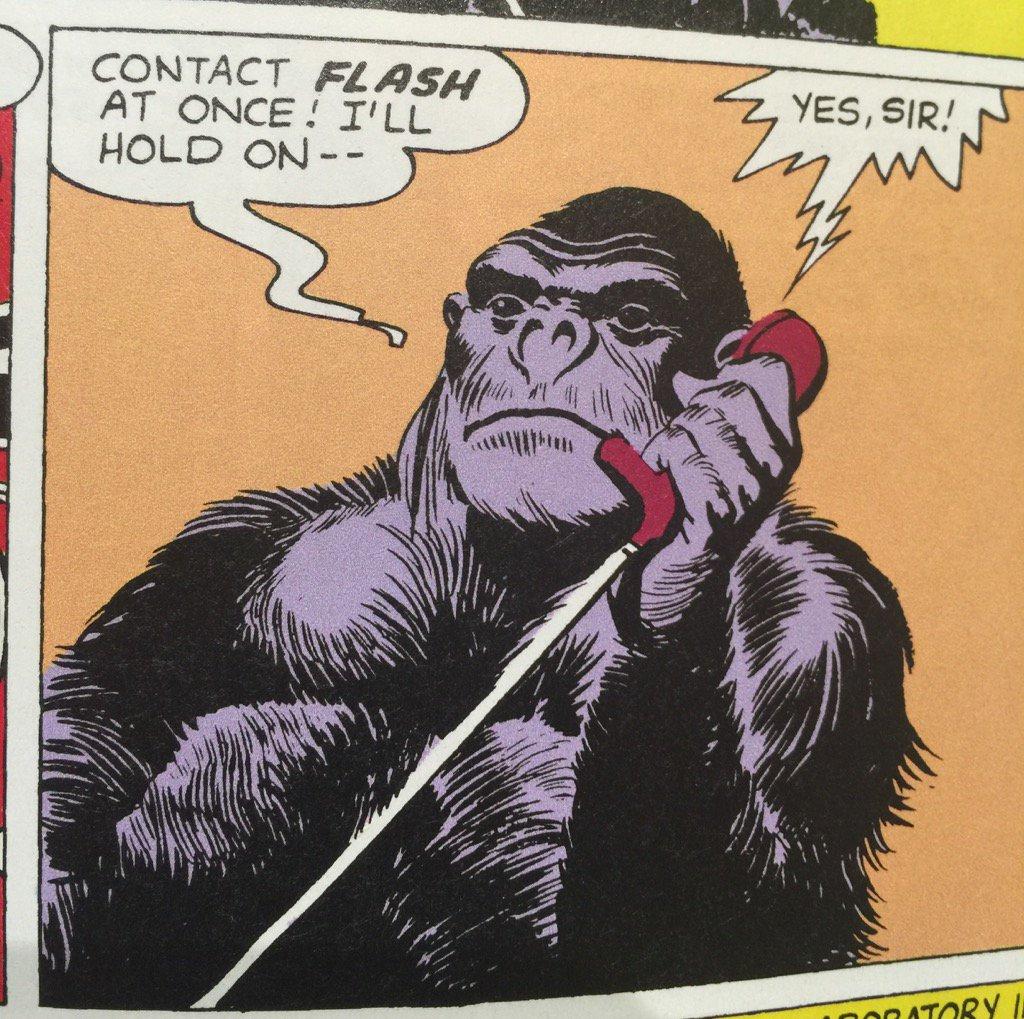 Comics today need more gorillas talking on phones https://t.co/DhFHaRT3RC