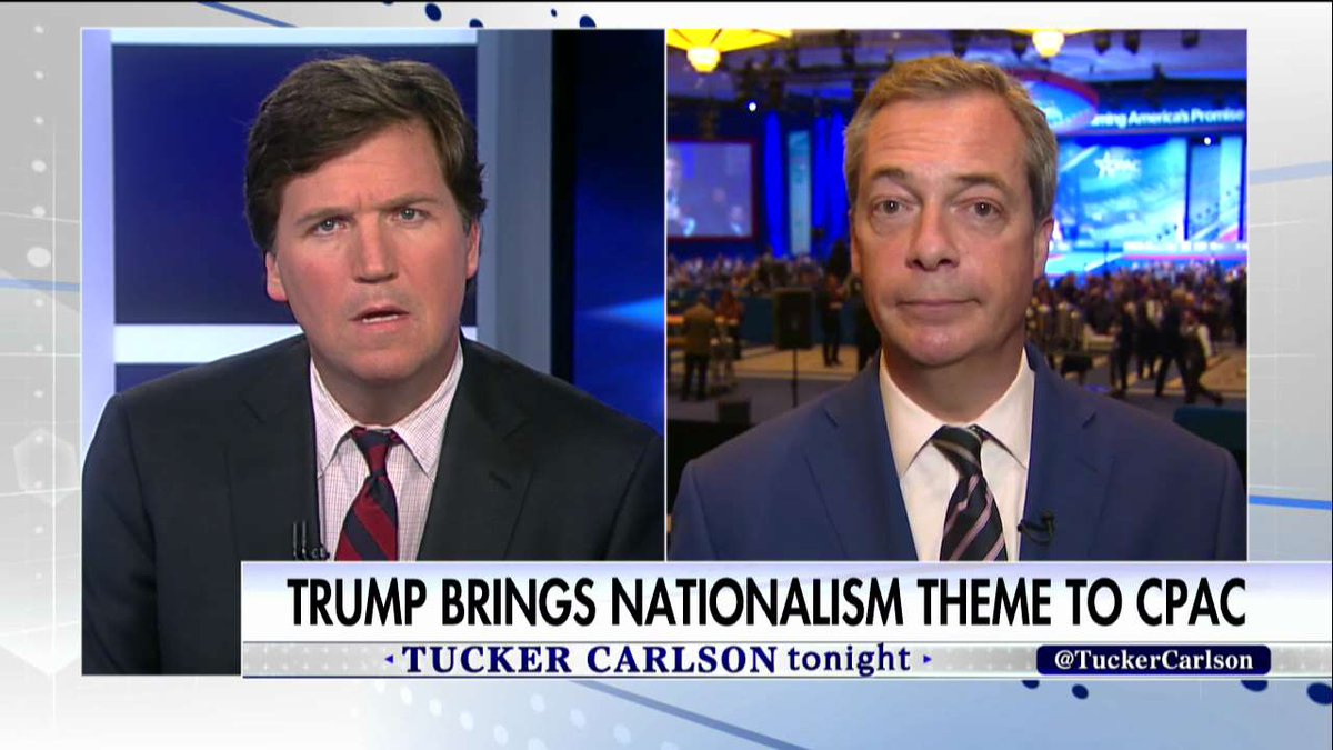 """.@Nigel_Farage: """"What the globalists tried to do was to destroy the nation-state.&quot; #Tucker <br>http://pic.twitter.com/ZoyRUBJhib"""