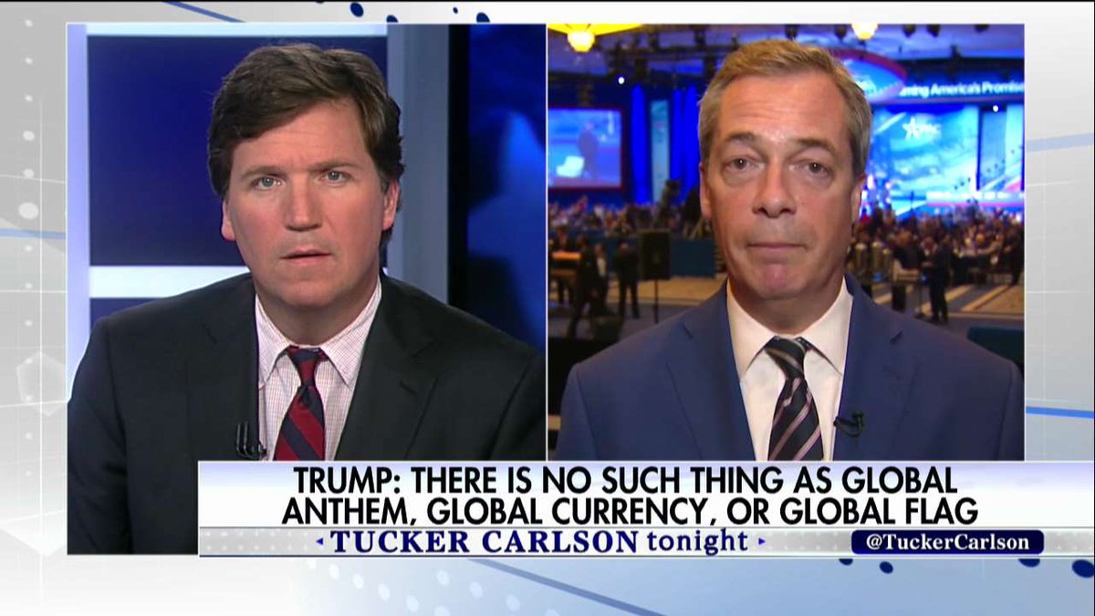 """.@Nigel_Farage: """"I look at that team around @POTUS ...I think we&#39;ve got some very smart people now in charge of the USA.&quot; #Tucker <br>http://pic.twitter.com/fUBpfMXNKf"""