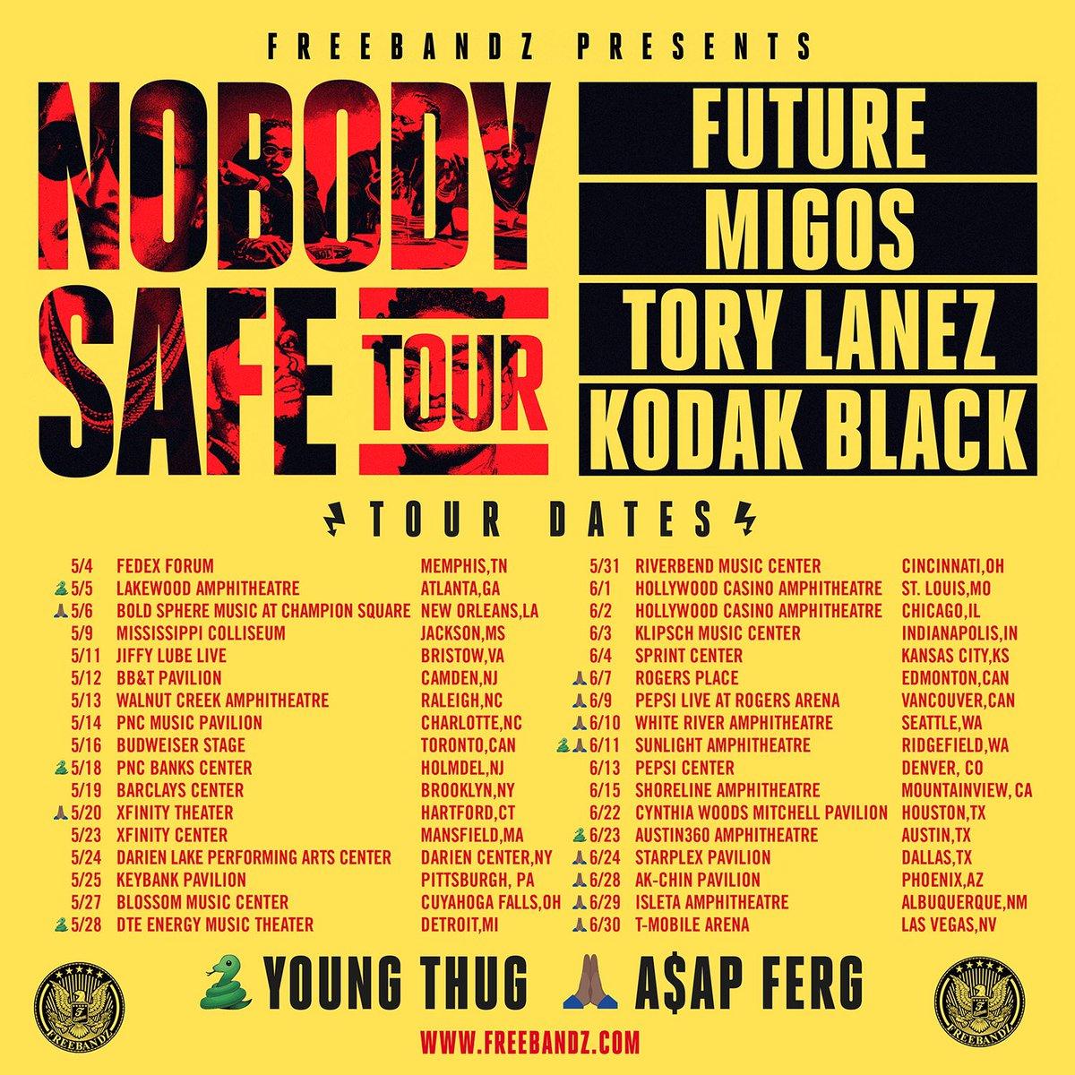 Future Nobodys Safe Tour Tickets