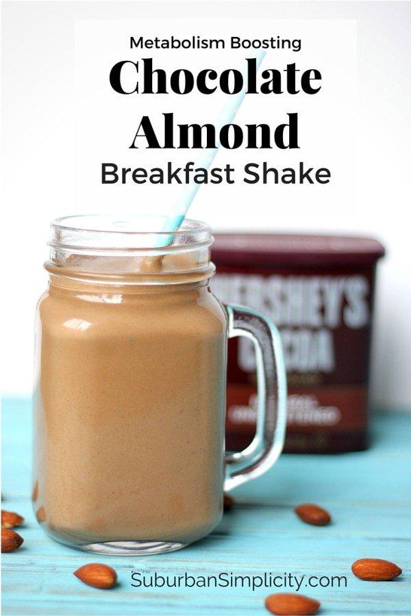 Metabolism Boosting Chocolate Almond Breakfast Shake.. https://t.co/U3...