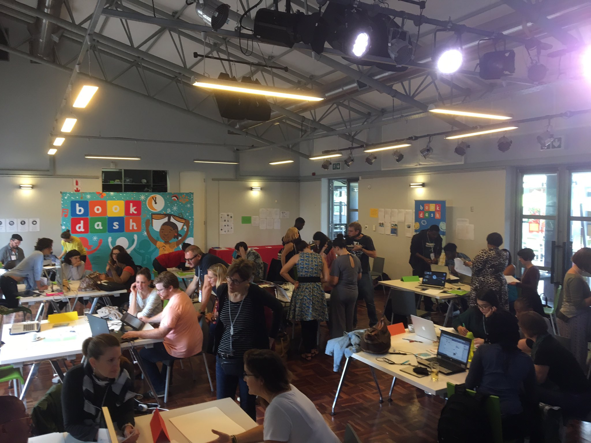 We're so proud to sponsor the 1st pan-African #BookDash with authors and illustrators from 9 different countries! @bookdash @goethejoburg https://t.co/ZyqK4DRJKs