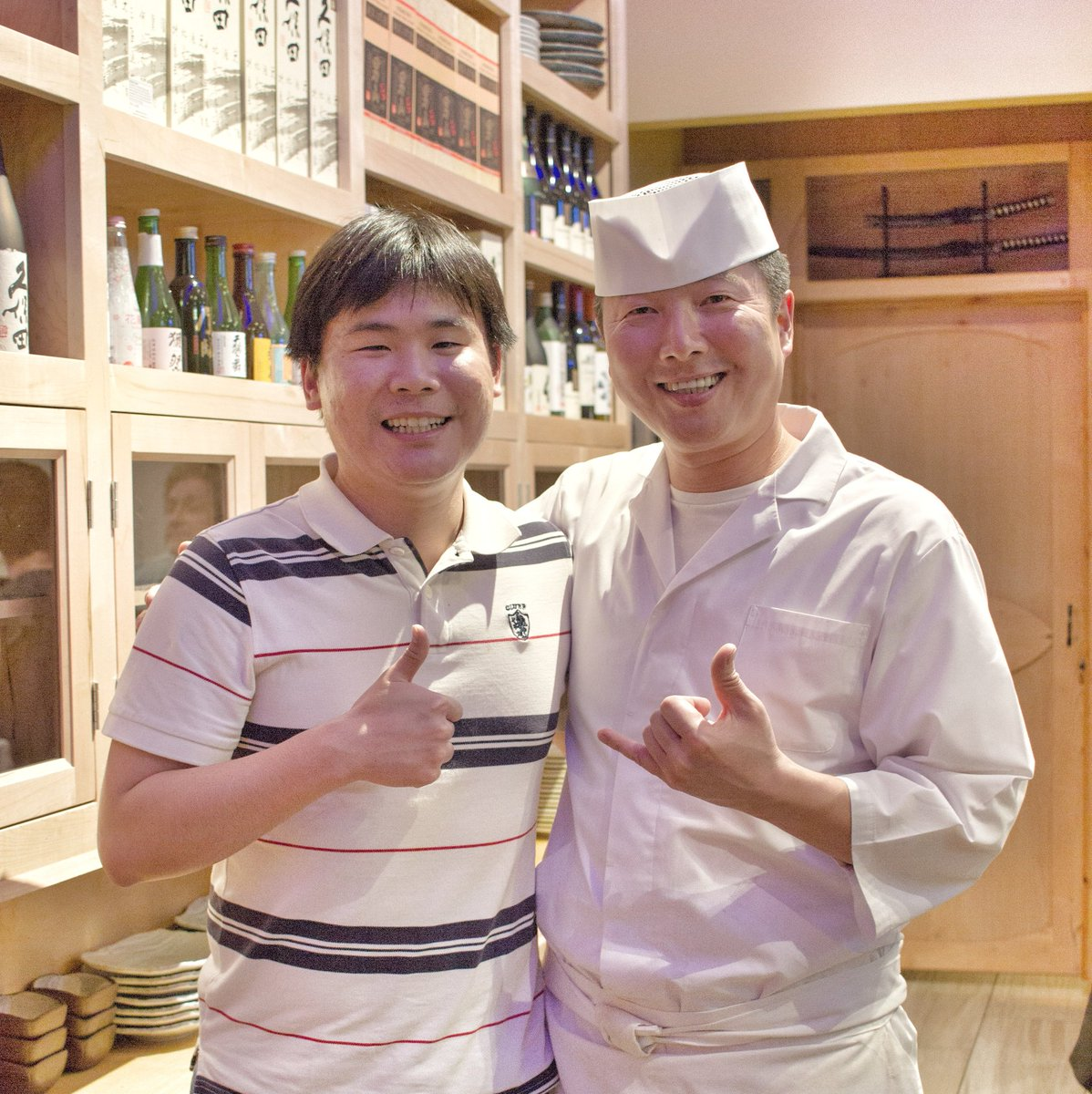 Chef Eric Youngsup Kim with Travelling Foodie at Kame Omakase - Las Vegas