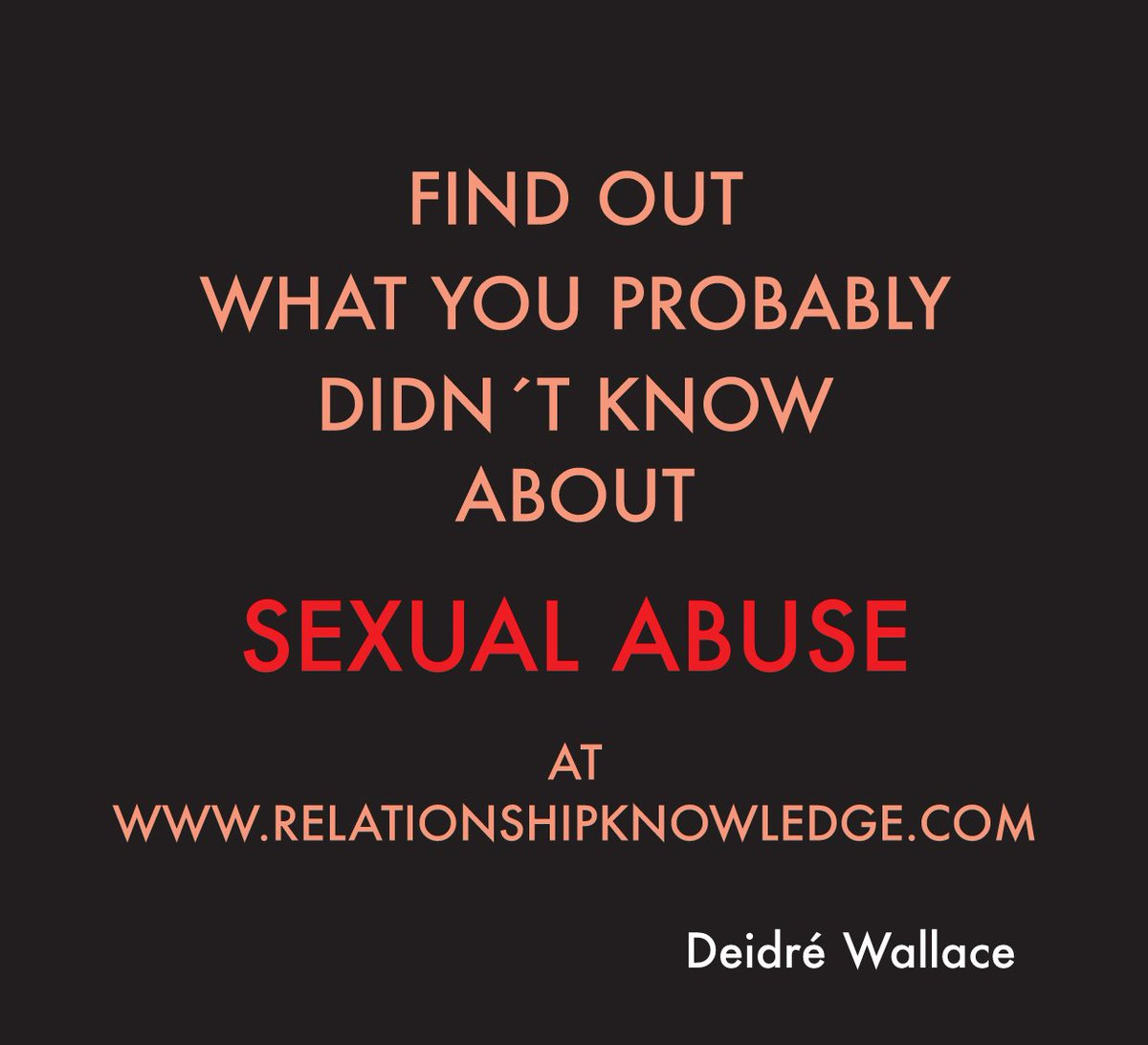 Blog 44: What you didn't know about #sexual #abuse: https://t.co/MbmOF...