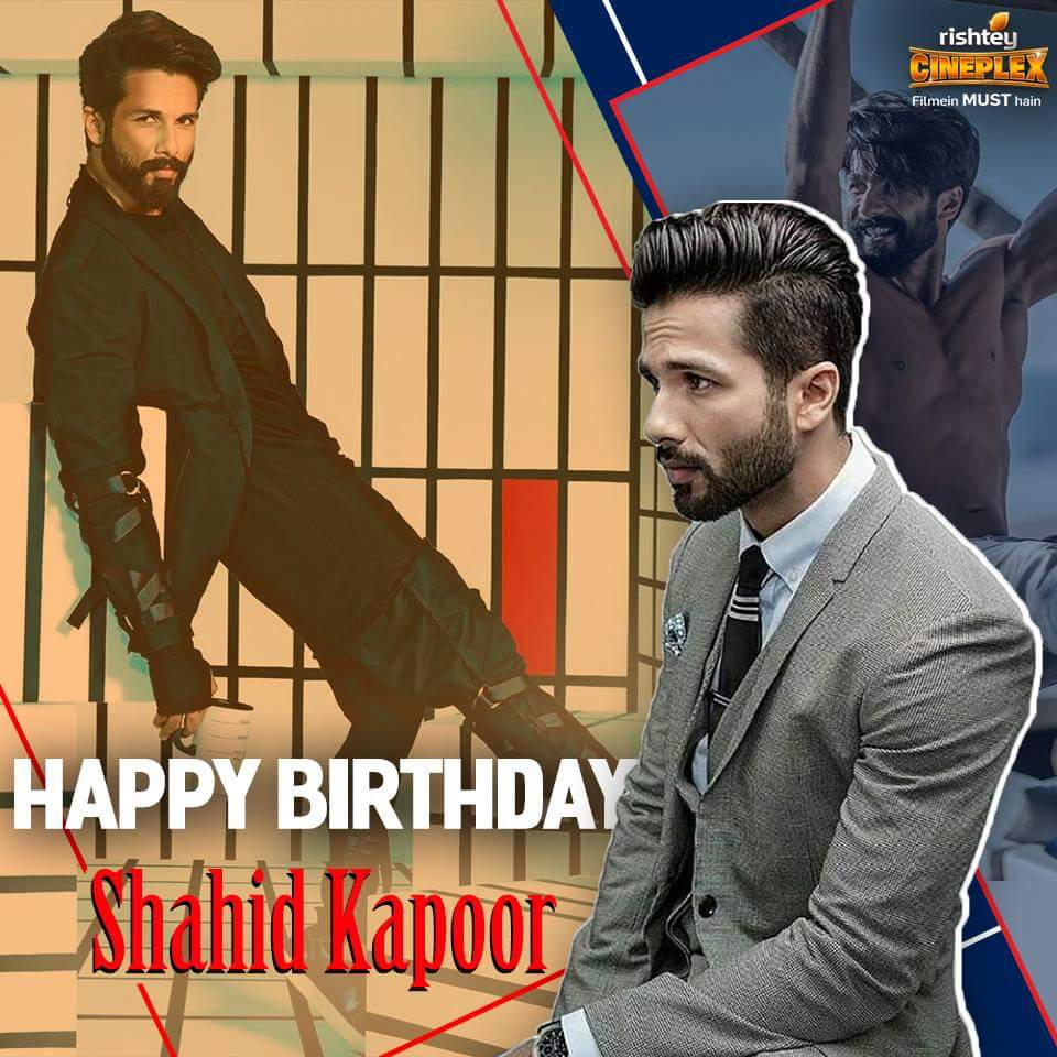 Here's wishing the supremely talented and versatile Shahid Kapoor a ve...