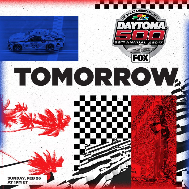 Tomorrow. #DAYTONA500 @FOXTV #DaytonaDay https://t.co/H4JpoXNgZS