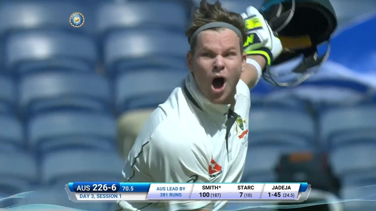 Century No.18 for Steve Smith and boy has he enjoyed this one Live blo...